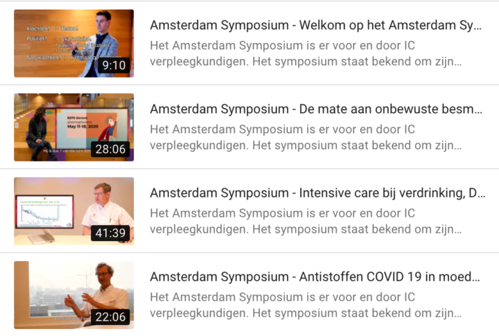 Symposium, Amsterdam, Intensive Care, IC, Ontwikkeling, Onderzoek, Kennis, Overdracht, Symptomen, Leren, Verpleegkunde